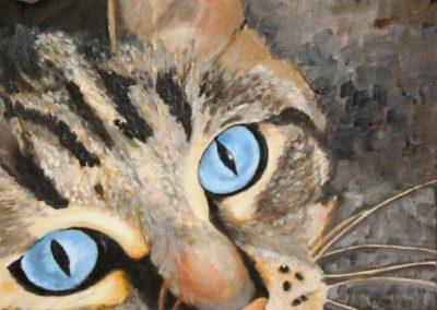 Blaue Augen - Öl auf Leinwand 30x40