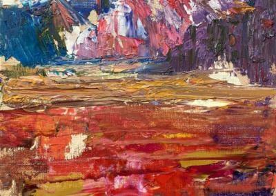 Landschaft - Öl auf Leinenplatte 24x30 cm - 2020