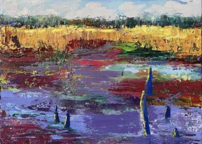 Moorlandschaft - Öl auf Leinwand 40x30 cm - 2020