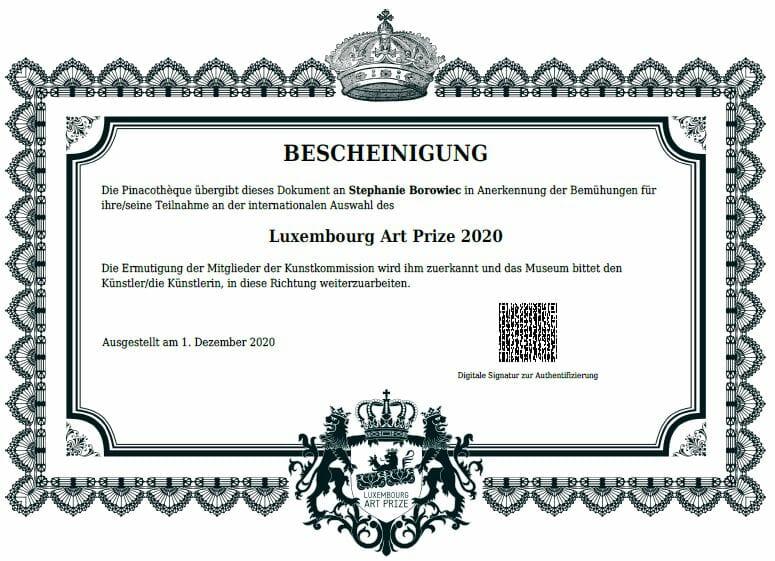 Luxembourg Art Price 2020