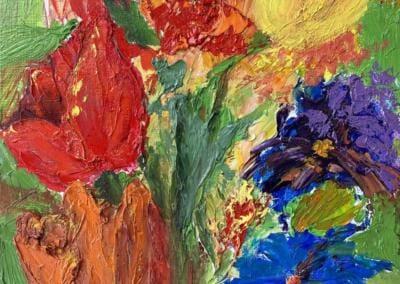 Valentinstag - Öl auf Leinplatte 24 x 30 cm 2020