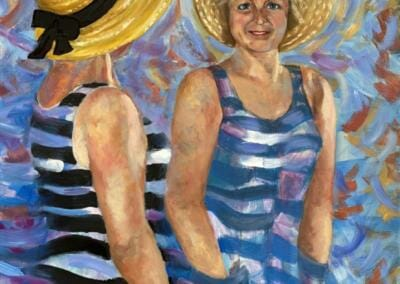 Kunst-Malerei-Borowiec-Sommerhut-Öl-auf-Leinwand